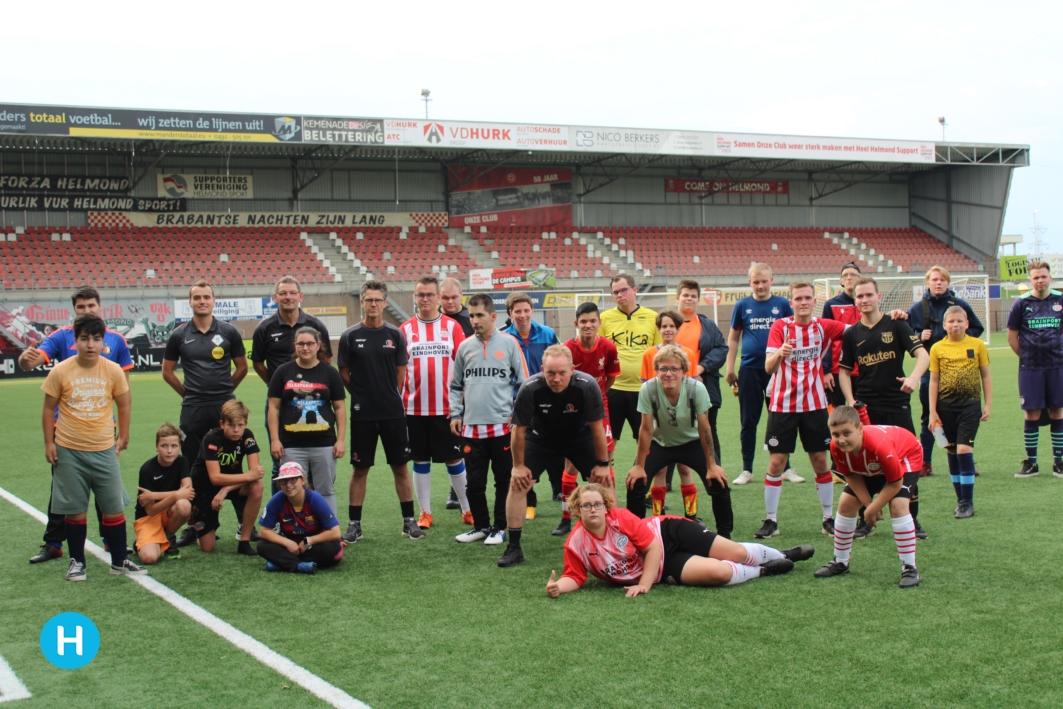 Speciale training voor G-team bij SV De Braak