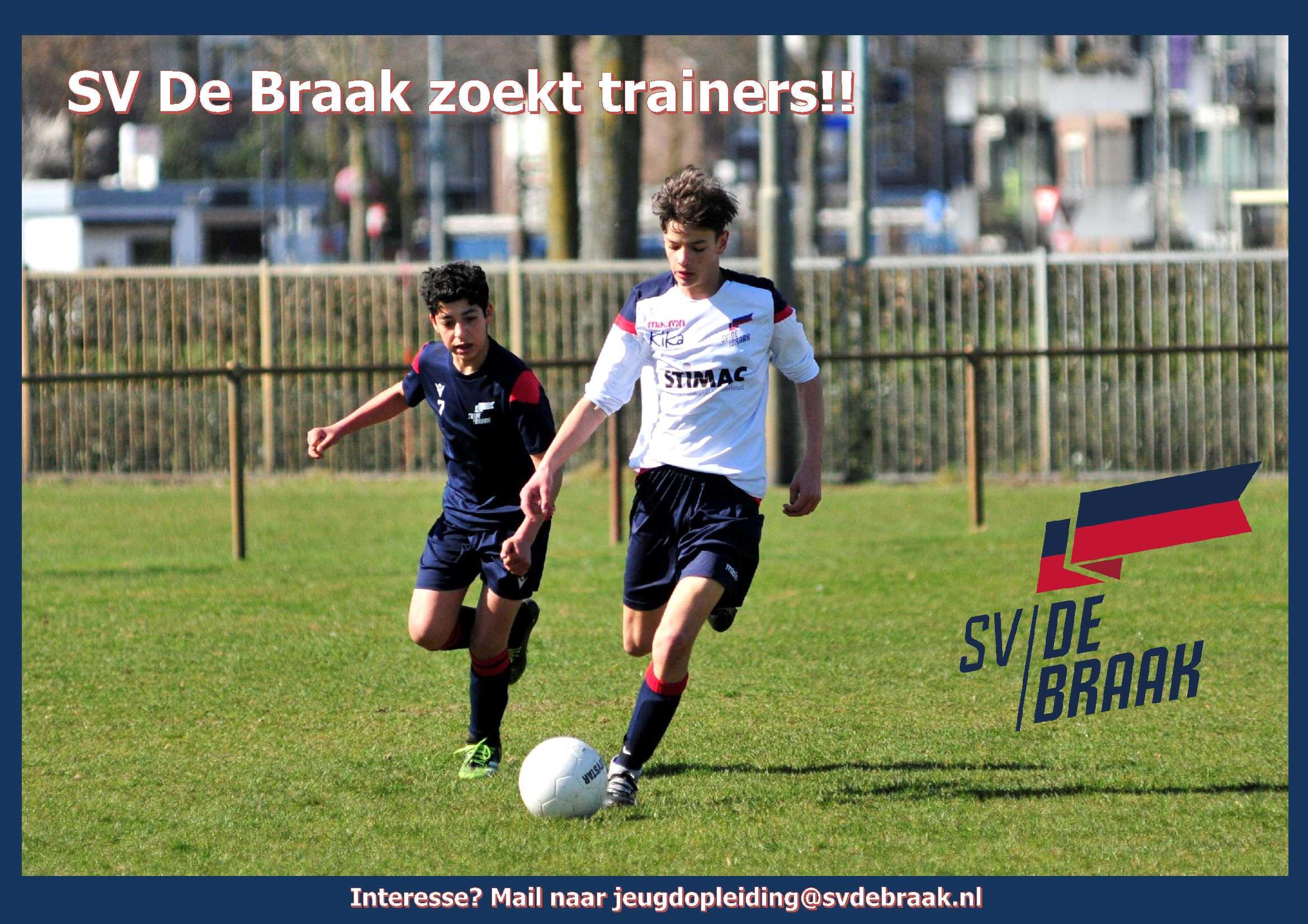 SV De Braak zoekt jeugdtrainers!